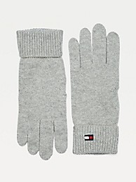타미 힐피거 Tommy Hilfiger Classic Cotton Gloves,MID GREY HEATHER