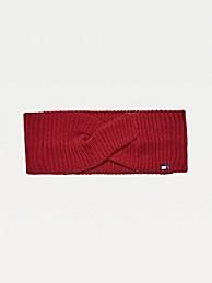 타미 힐피거 Tommy Hilfiger Organic Cotton Headband,WINE RED