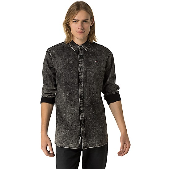 56b99a6c Black Acid Wash Shirt | Tommy Hilfiger