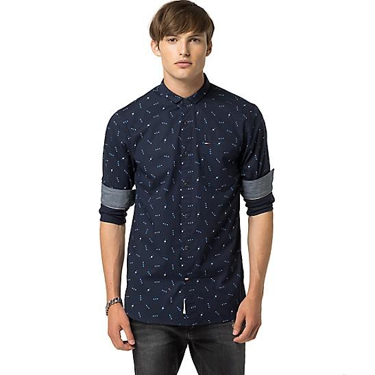 d7ceeae93398d Microprint Shirt | Tommy Hilfiger