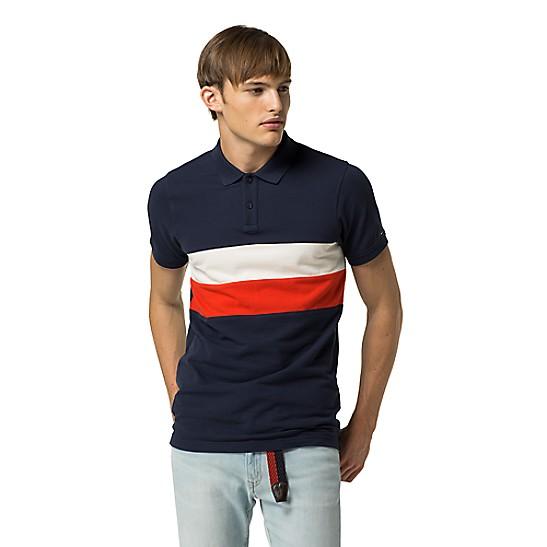 Final Sale-Icon Stripe Polo   Tommy Hilfiger a805a385f2b2