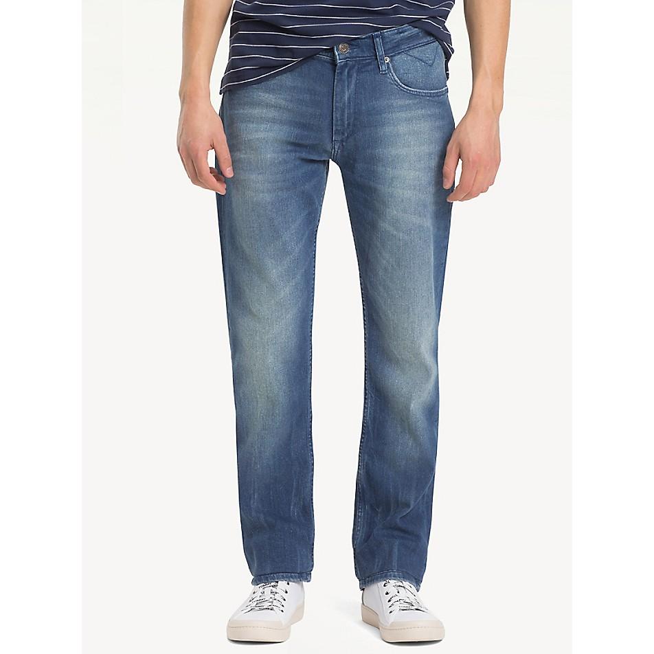 Faded Indigo Straight Fit Jean