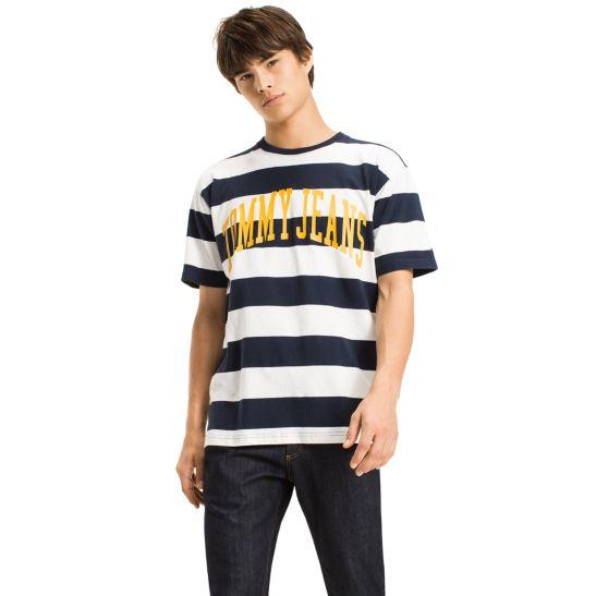 Bold Stripe Boxy T-Shirt - Sales Up to -50% Tommy Hilfiger
