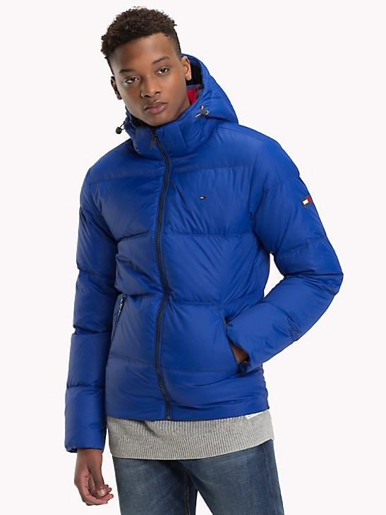 Tommy Jeans Men/'s Essential Down Puffer Jacket Blue