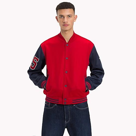 schön billig offizielle Bilder kostenloser Versand Mesh Varsity Jacket