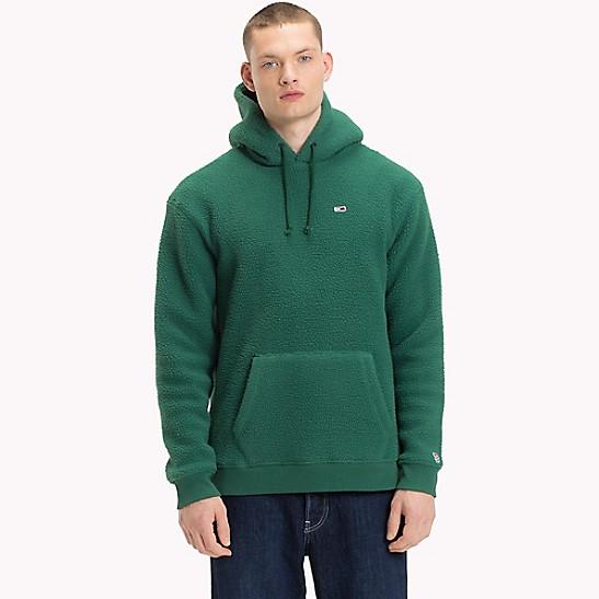 tommy classics polar fleece hoodie tommy hilfiger