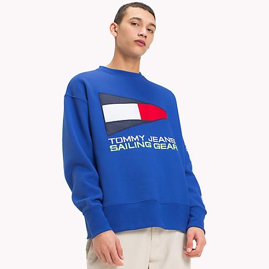 Tommy Jeans äSweatshirt öCrest Collectionin Grau Mit