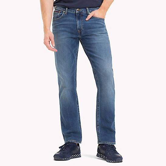 05ec8249c Medium Blue Straight Fit Jean | Tommy Hilfiger