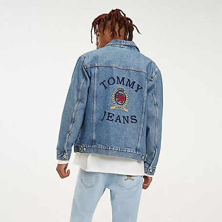 e6af28cb Crest Capsule Embroidered Trucker Jacket | Tommy Hilfiger