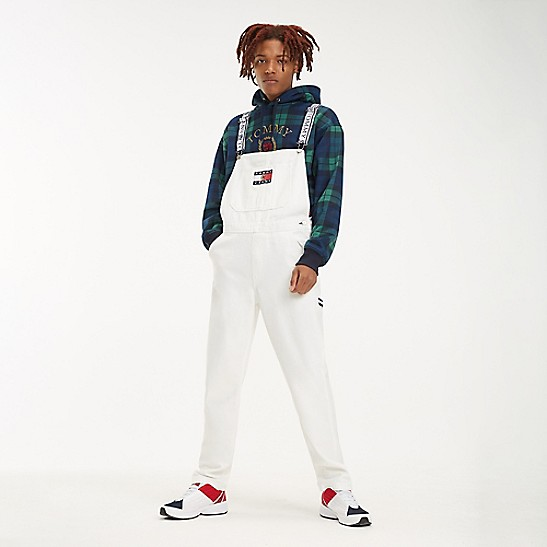 newest style of info for finest selection Crest Capsule White Denim Overalls