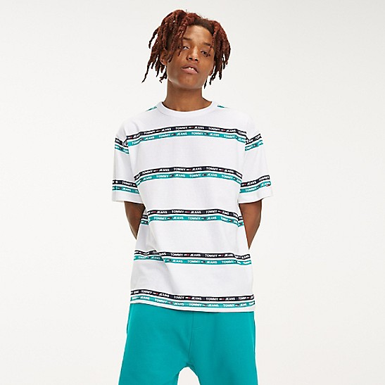 520be01f Signature Stripe Logo T-Shirt | Tommy Hilfiger
