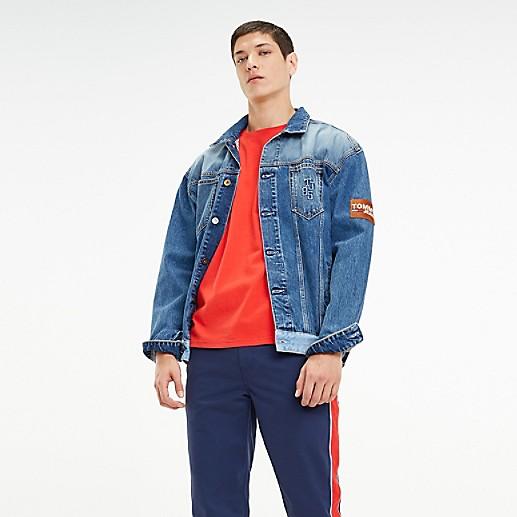 Oversized Repurposed Denim Trucker Jacket