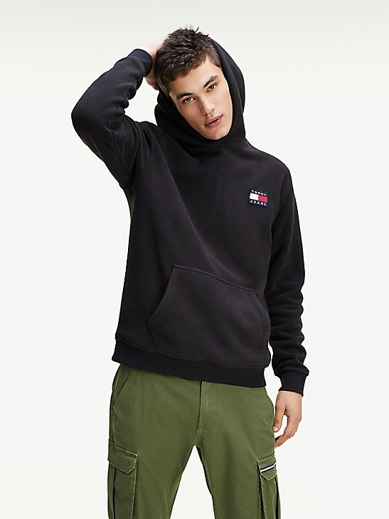 Tommy Hilfiger Mens Lounge Track Sweatshirt Black