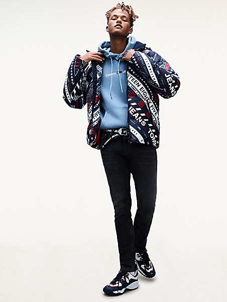 TOMMY JEANS All-Over Logo Down Jacket
