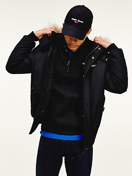 TOMMY JEANS Recycled Shell Bomber Jacket