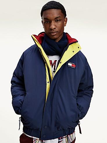 타미 진스 나일론 레트로 자켓 (화사 착용) TOMMY JEANS Recycled Nylon Retro Jacket, TWILIGHT NAVY