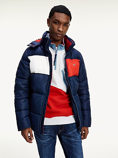 TOMMY JEANS Recycled Colorblock Padded Jacket