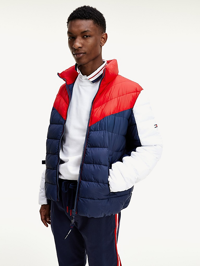 NEW Channeled Colorblock Puffer