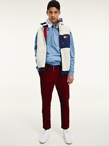 TOMMY JEANS Reversible Colorblocked Sherpa Vest