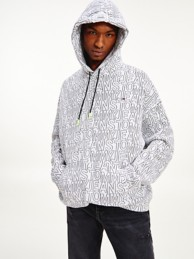 Organic Cotton Allover Print Hoodie   Tommy Hilfiger