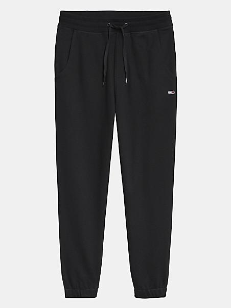 타미 진스 스웻팬츠 TOMMY JEANS Organic Cotton Sweatpant,black
