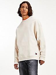 타미 진스 맨 맨투맨 TOMMY JEANS Organic Cotton Modern Sweatshirt,smooth stone