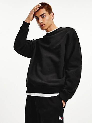 타미 진스 맨 맨투맨 TOMMY JEANS Organic Cotton Modern Sweatshirt,black