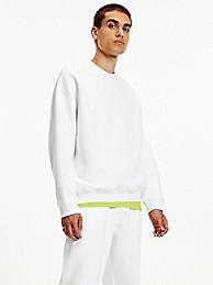타미 진스 맨 맨투맨 TOMMY JEANS Organic Cotton Modern Sweatshirt,white