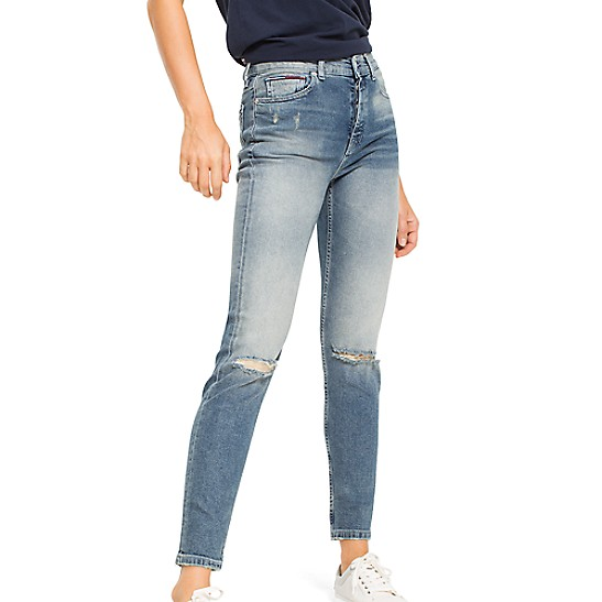 Grande Hauteur Recadrée Jeans Slim Fit Supplémentaires - Les Ventes Jusqu'à -50% Tommy Hilfiger sGAf94