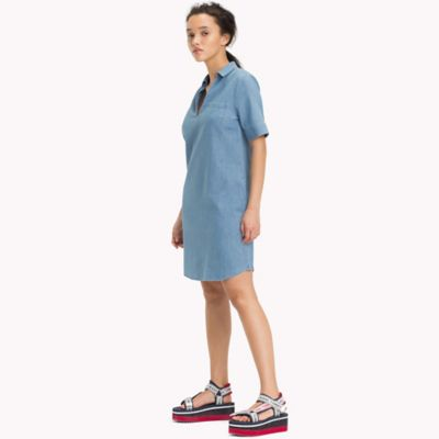 tommy hilfiger denim shirt dress