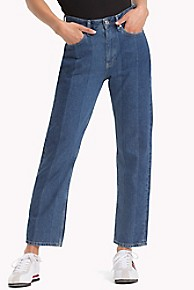 1990 High Rise Straight Cropped Jean