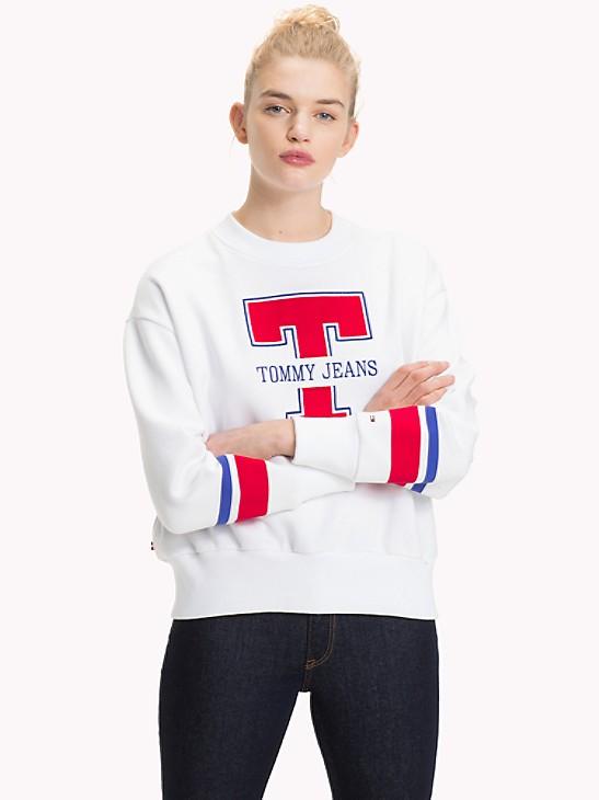 2019 new men and women Tommy Hilfiger cotton blend round neck logo sweatshirt