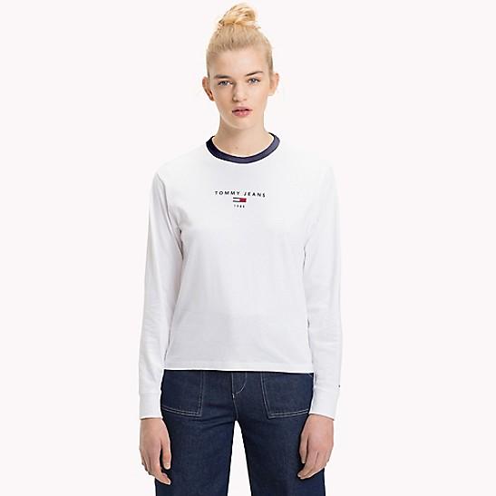 d96f5d8c5f9 Tommy Logo Long-Sleeve T-Shirt | Tommy Hilfiger