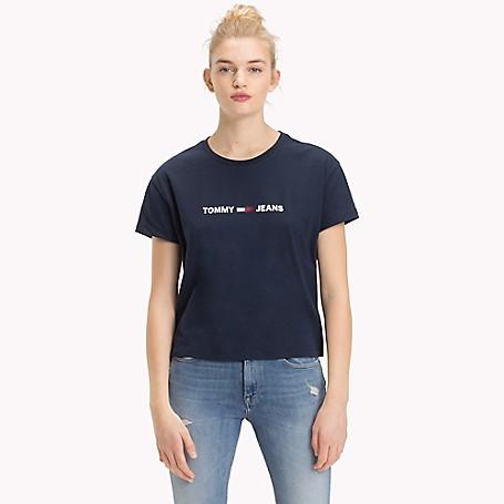 b197c8df Cropped Logo T-Shirt | Tommy Hilfiger