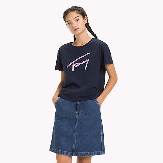 332e5923 Satin Script T-Shirt | Tommy Hilfiger