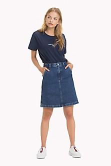 Stone Washed Denim Skirt