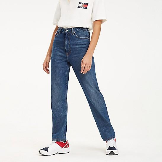 Tommy Hilfiger Womens Embroidered Cuffed Denim Shorts Blue