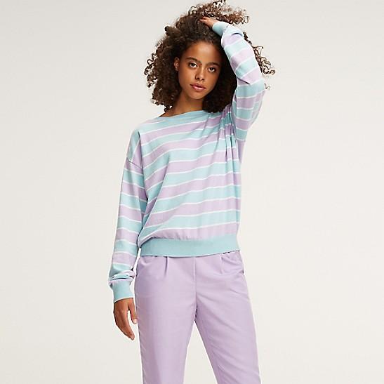 6cc5de6bec134 NEW Boatneck Stripe Sweater