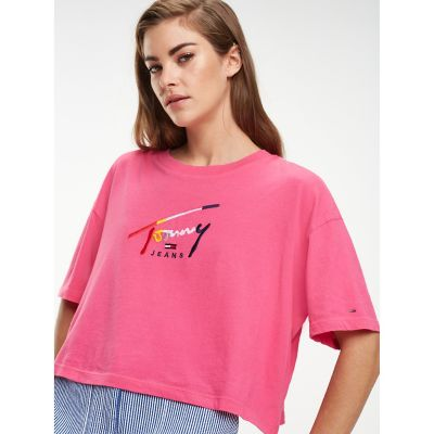 tommy hilfiger cropped shirt