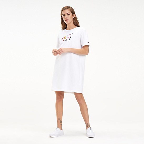 beste website detaillierter Blick im Angebot Embroidered T-Shirt Dress