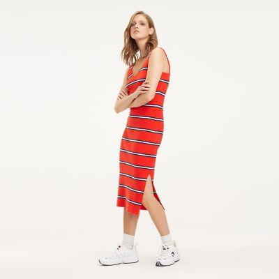 tommy hilfiger dress striped