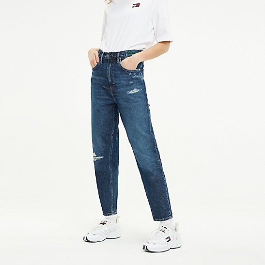 Recycled Cotton High Rise Tapered Fit Jean