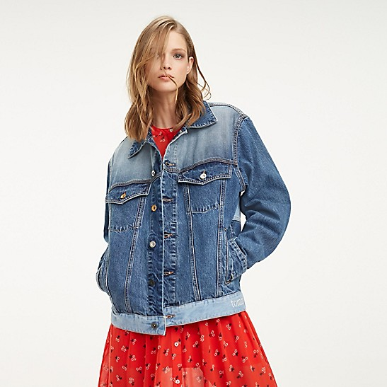 a815b2f67 Oversized Repurposed Denim Trucker Jacket | Tommy Hilfiger