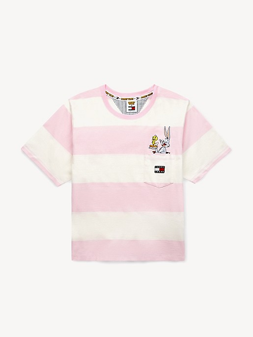 Tommy Hilfiger Womens Striped Basic T-Shirt