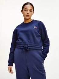 Curve Organic Cotton Badge Sweatshirt   Tommy Hilfiger