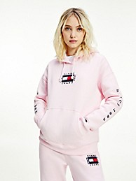 타미 진스 TOMMY JEANS Box Flag Hoodie,ROMANTIC PINK