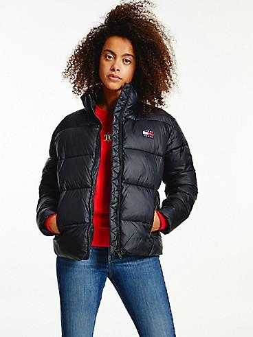타미 진스 우먼 클래식 숏패딩 TOMMY JEANS Recycled Classic Puffer Jacket,black
