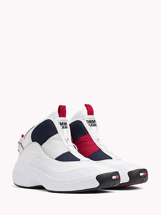 Vintage 90s Tommy Hilfiger Slip On Sneakers Size 10 Mens