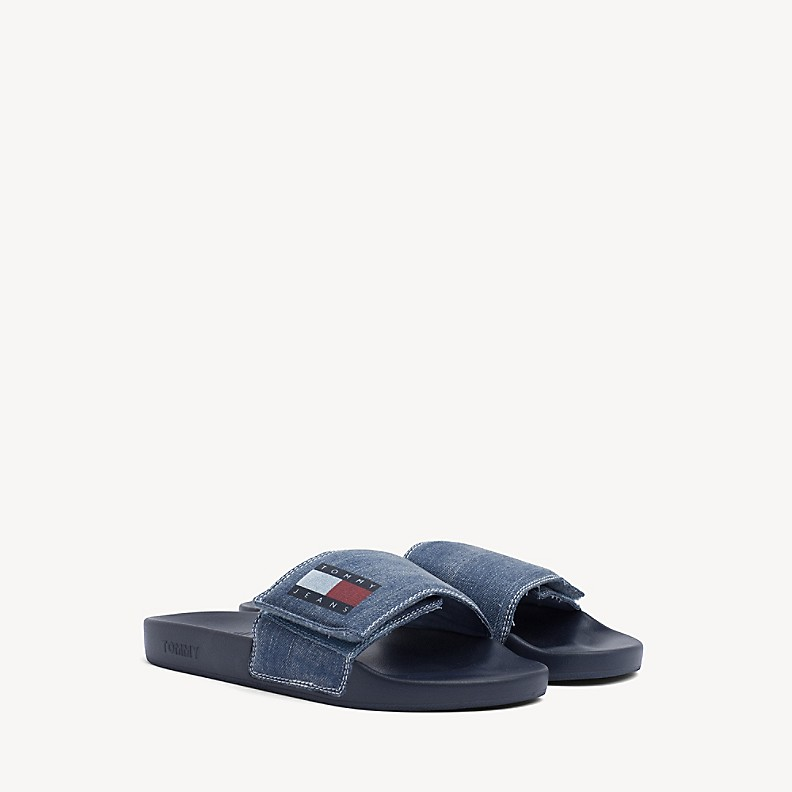 NEW Tommy Jeans Denim Slide