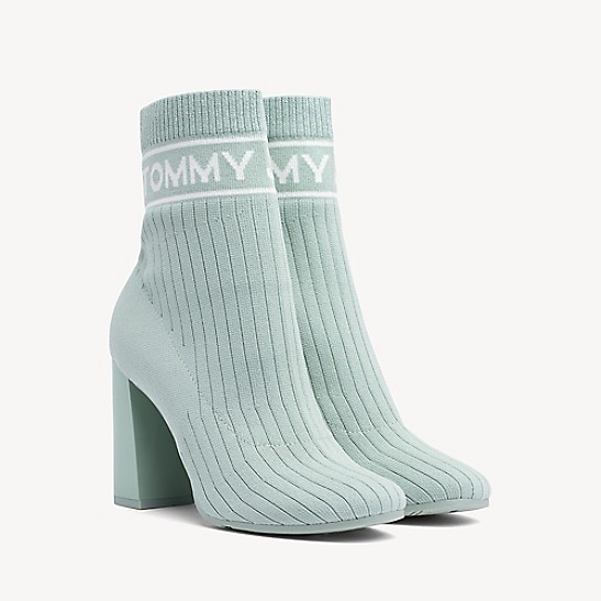 bb915eaa079 Knit Heeled Ankle Boot | Tommy Hilfiger